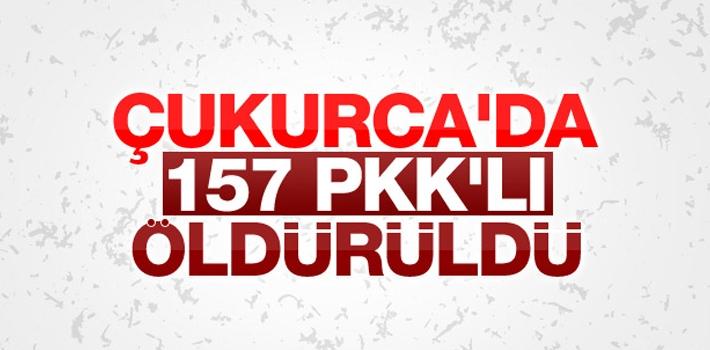Çukurca'da 157 PKK'lı Terörist Öldürüldü