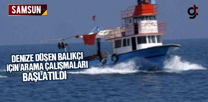 Denize Düşen Balıkçı İçin Arama Çalışmaları Başlatıldı