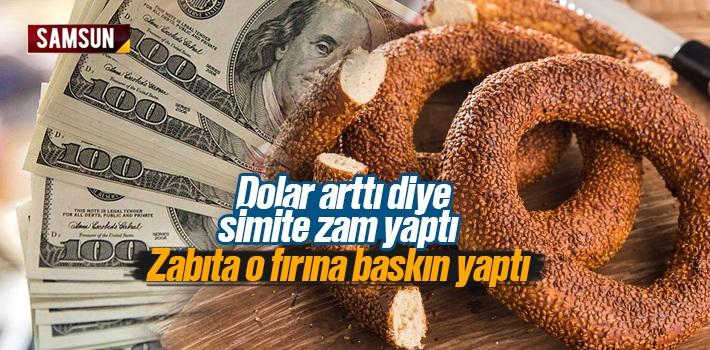 Dolar Kuru Arttı Diye Samsun'da Simite Zam Yapan Simitçiye Zabıta Ayarı