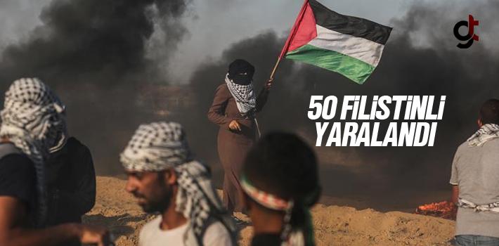 Gazze Sınırında 50 Filistinli Yaralandı