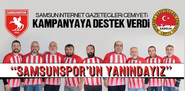 İnternet Gazetecilerinden Samsunspor'a Tam Destek