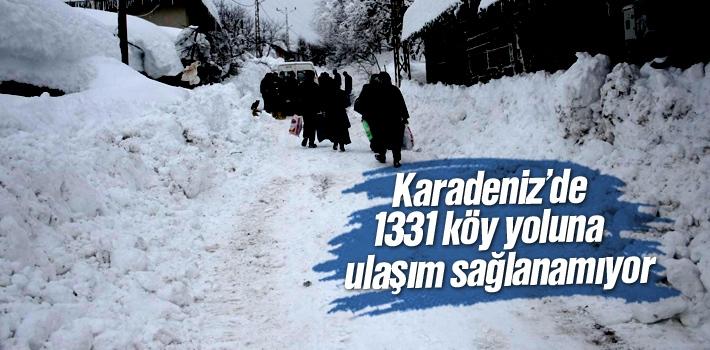 Karadeniz'de 1331 Köy Yolu Kar Altında Kaldı