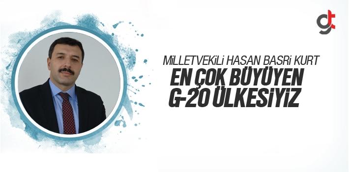 Milletvekili Hasan Basri Kurt, En Çok Büyüyen G_20 Ülkesiyiz