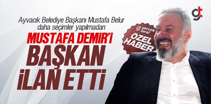 Mustafa Belur, Mustafa Demir'i Başkan İlan Etti