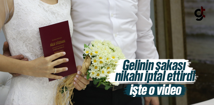 Nikah Masasında Gelin Şaka Yapıca Nikah İptal Edildi