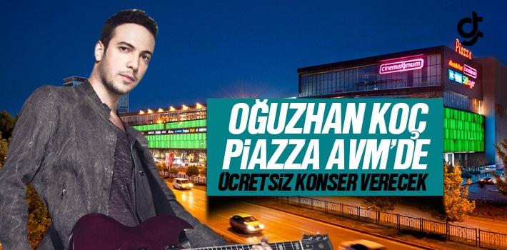 Oğuzhan Koç, Samsun Piazza AVM'de Ücretsiz Konser Verecek