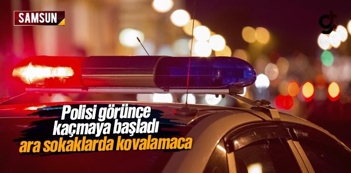 Polisi Görünce Ara Sokaklara Girerek Kaçmaya Çalışan Zanlı Yakalandı
