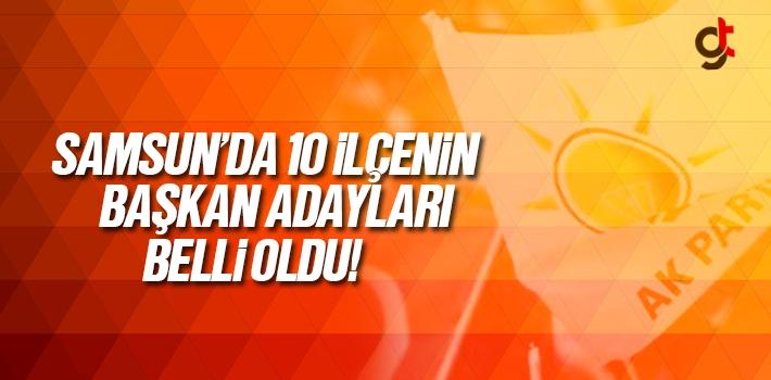 Samsun AK Parti İlçe Başkanları Belli Oldu