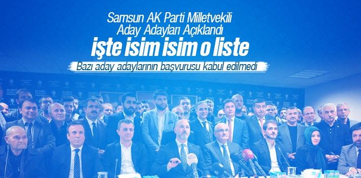 Samsun AK Parti Milletvekili Aday Adayları Açıklandı