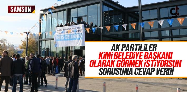 Samsun AK Parti'de 2019 Yerel Seçimleri İçin Temayül Yapıldı