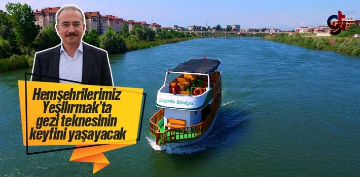 Samsun Çarşamba Yeşilırmak'ta Tekne İle Gezi Turları Başladı