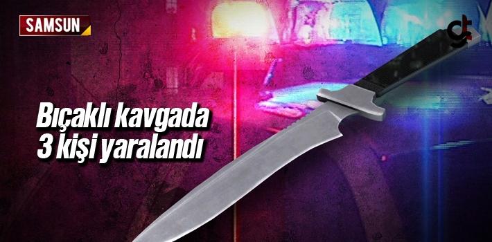 Samsun Çarşamba'da Bıçaklı Kavgada 3 Kişi Yaralandı