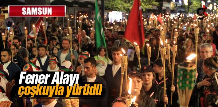 Samsun Fener Alayı ve Gençlik Festivali Yürüyüşü'ne Yoğun Katılım