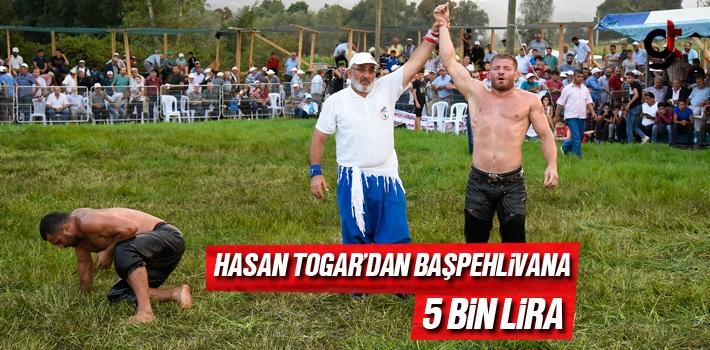 Samsun Haber: Hasan Togar'dan Başpehlivana 5 Bin Lira