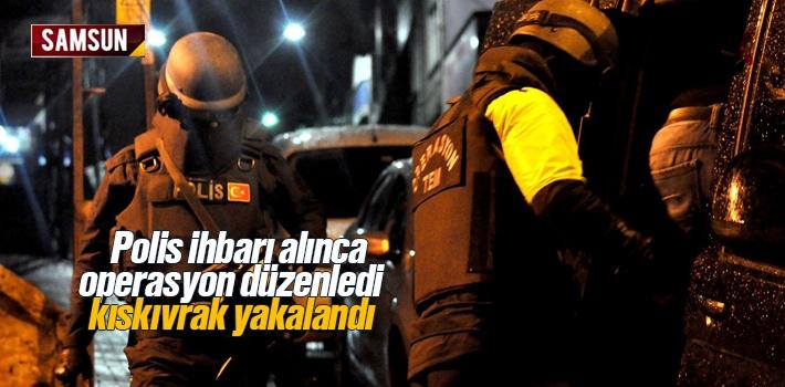 Samsun Haber: Polis İhbarı Alınca Operasyon Düzenledi