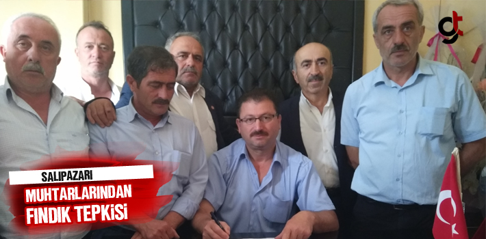 Samsun Haber: Salıpazarı Muhtarlarından Fındık Tepkisi