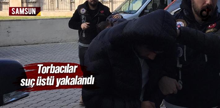 Samsun Haber: Torbacılar Suç Üstü Yakalandı