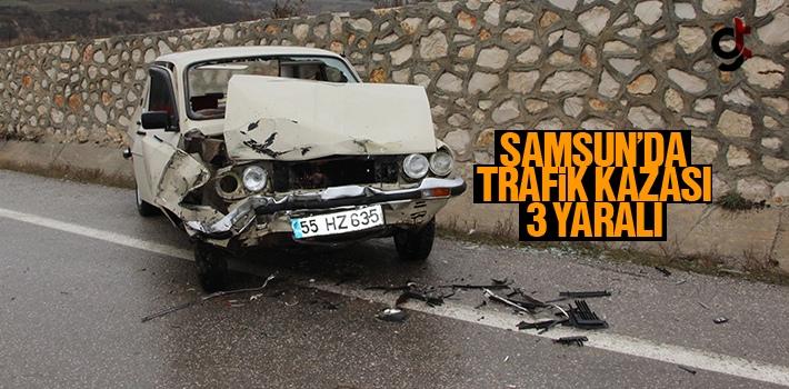 Samsun Havza'da Trafik Kazası 3 Yaralı