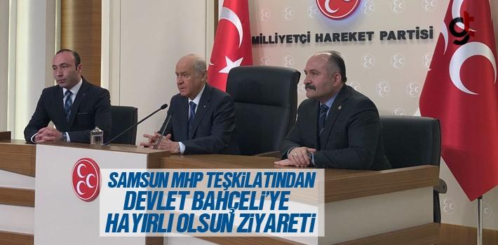 Samsun MHP Teşkilatından Devlet Bahçeli'ye Hayırlı Olsun Ziyareti