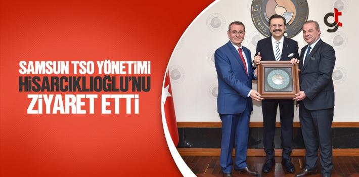 Samsun TSO Yönetimi, Hisarcıklıoğlu'nu Ziyaret Etti