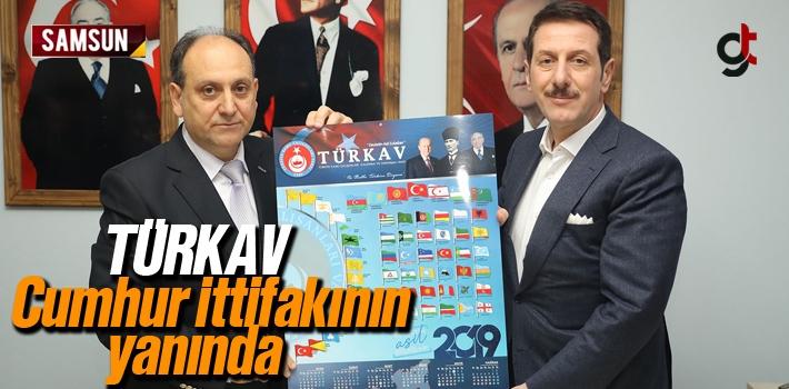 Samsun Türkav'dan Cumhur İttifakı Adayı Erdoğan Tok'a Destek
