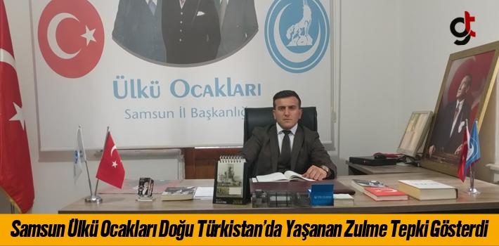 Samsun Ülkü Ocakları Doğu Türkistan'da Yaşanan Zulme Tepki Gösterdi