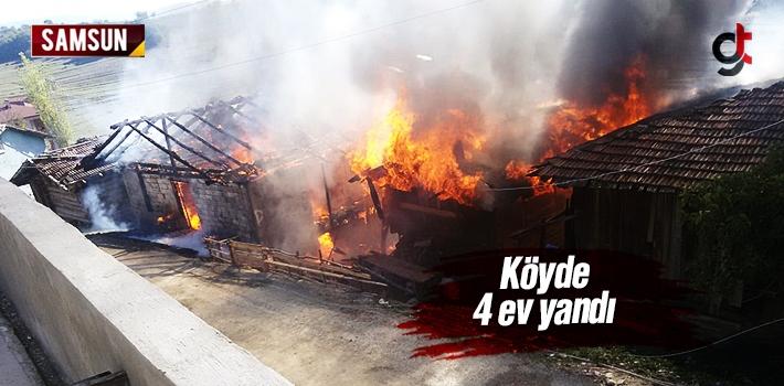Samsun Vezirköprü'de Yangın Çıktı