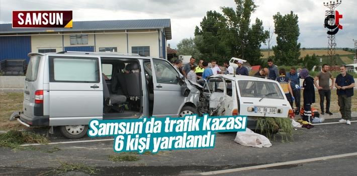Samsun Vezirköprü'de Trafik Kazası 6 Yaralı