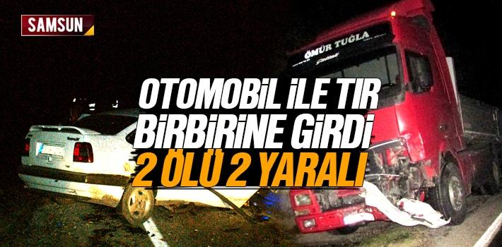 Samsun Vezirköprü'de Otomobil İle Tır Çarpıştı 2 Ölü 2 Yaralı