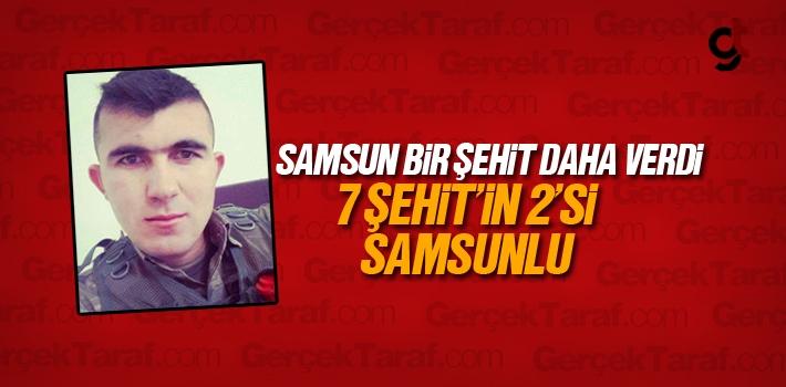 Samsun'a İkinci Şehit Haberi Düştü
