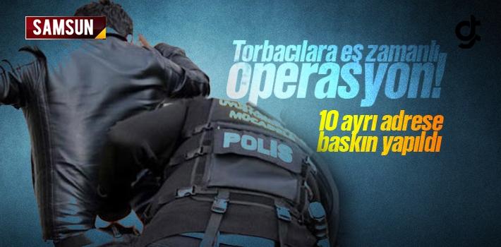 Samsun'da 10 Ayrı Adrese Eş Zamanlı Uyuşturucu Operasyonu