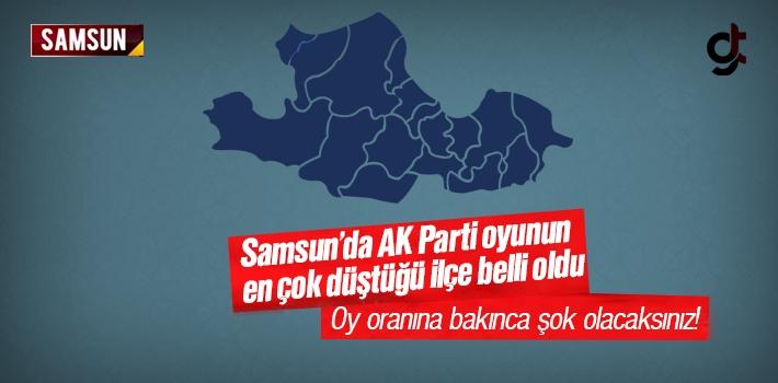 Samsun'da AK Parti Oyunun En Çok Düştüğü İlçe Belli Oldu