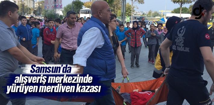 Samsun Piazza AVM'de Yürüyen Merdiven Kazası 28 Öğrenci Yaralandı