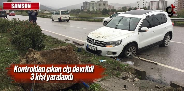 Samsun'da Cip Devrildi: 3 Kişi Yaralandı