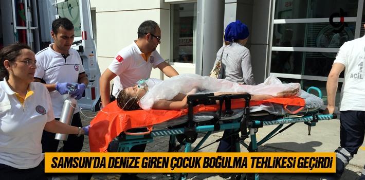 Samsun'da Denize Giren Çocuk Boğulma Tehlikesi Geçirdi