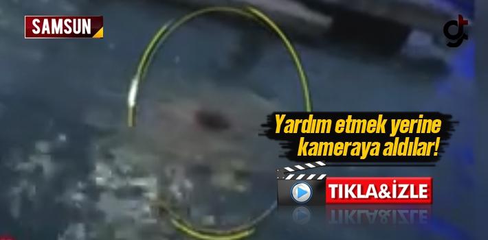 Samsun'da Denize Giren Yaşlı Adamın Boğulmasını Kameraya Aldılar