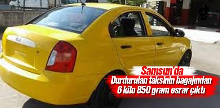Samsun'da Durdurulan Taksinin Bagajından Esrar Çıktı