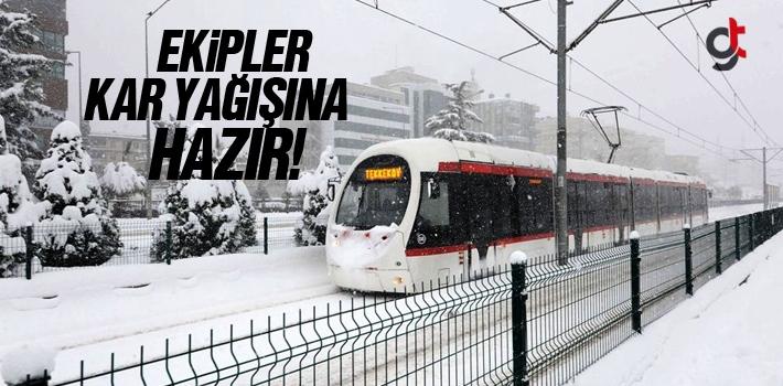 Samsun'da Ekipler Kar Yağışına Hazır!