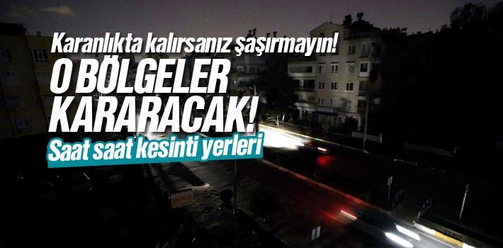 Samsun'da Elektrik Kesintisi Nerelerde Olacak?