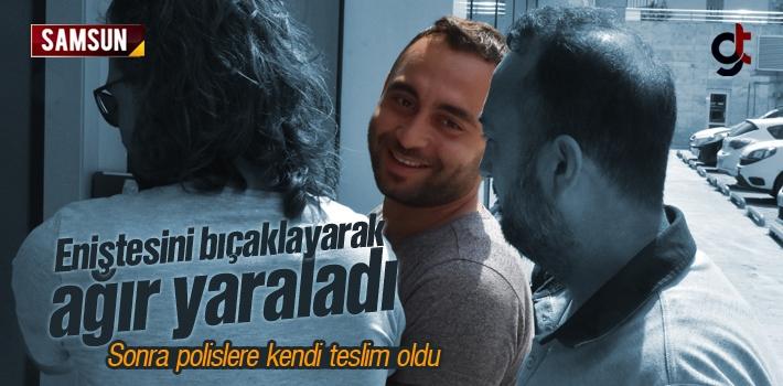 Samsun'da Eniştesini Bıçaklayarak Ağır Yaralayan Emre B Tutuklandı