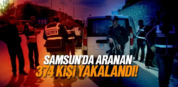 Samsun'da Haklarında Suçları Bulunan 374 Kişi Yakalandı