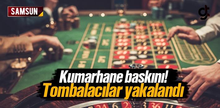 Samsun'da Kumarhane Baskını
