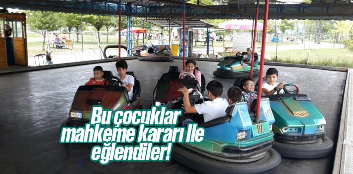 Samsun'da Mahkeme Kararı İle 40 Çocuk Lunaparka Götürüldü