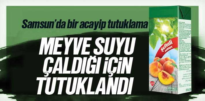 Samsun'da Meyve Suyu Çalan Genç Tutuklandı