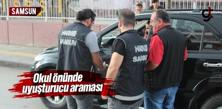Samsun'da Okul Önlerinde Uyuşturucu Araması
