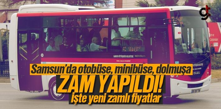 Samsun'da Otobüs, Minibüs ve Dolmuşa 2018 Zammı Yapıldı; İşte Zamlı Fiyatlar