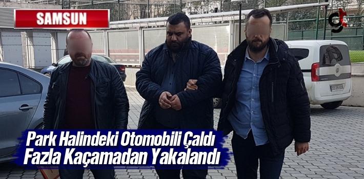 Samsun'da Park Halindeki Otomobili Çalan Şüpheli Yakalandı