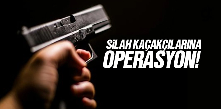 Samsun'da Silah Kaçakçılarına Operasyon Düzenlendi
