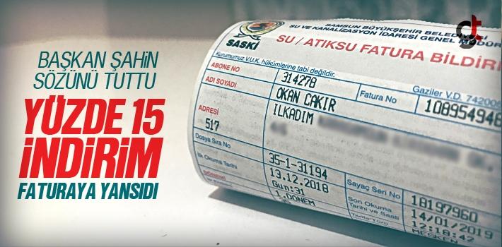 Samsun'da Su Ücretlerine Yüzde 15 İndirim Uygulandı