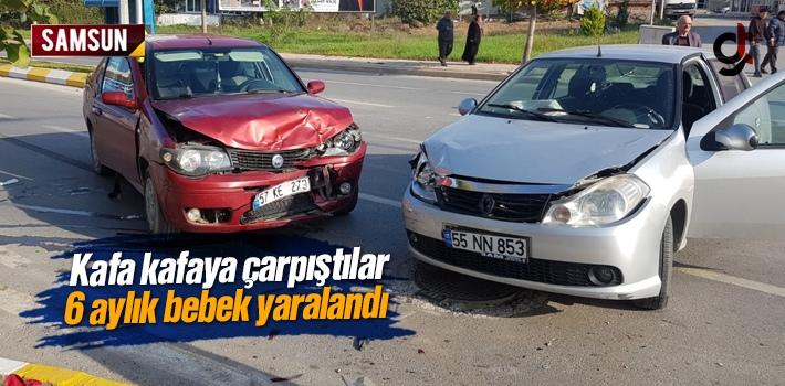 Samsun'da Trafik Kazasında 6 Aylık Bebek Yaralandı
